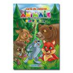 Animale din padure Carte de colorat Romana-Engleza B5