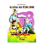 Capra cu trei iezi poveste de colorat-Roxel