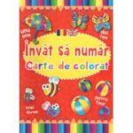 Invat sa numar-Carte de colorat-Romana-Engleza