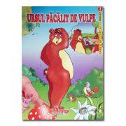 Ursul pacalit de vulpe-carte de citit si colorat-Arves