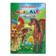 Animale de la ferma Carte de colorat Romana-Engleza B5