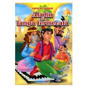 Aladin si lampa fermecata carte de colorat B5