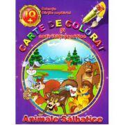 Carte de colorat si activitati practice Animale salbatice