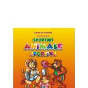 Sporturi Animale sportive Romana-engleza Carte de colorat B5