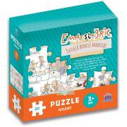 Ema si Eric invata bunele maniere-Puzzle gigant