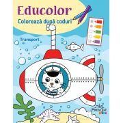 Educolor-Coloreaza dupa coduri-Transport