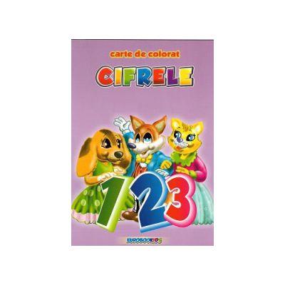 Cifrele Carte de colorat A4