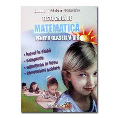 Teste grila de matematica cls V-VIII