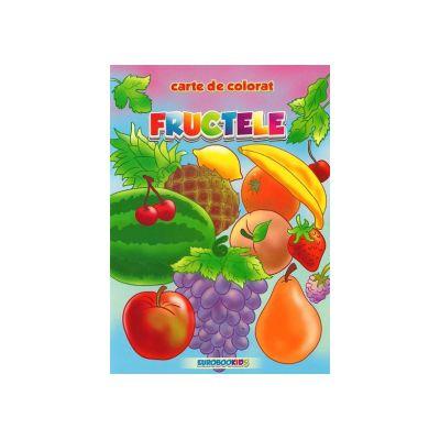 Fructele. Carte de colorat Romana-Engleza B5