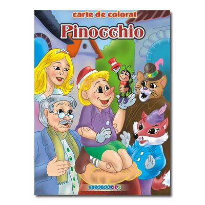 Pinocchio Carte de colorat B5-Eurobookids