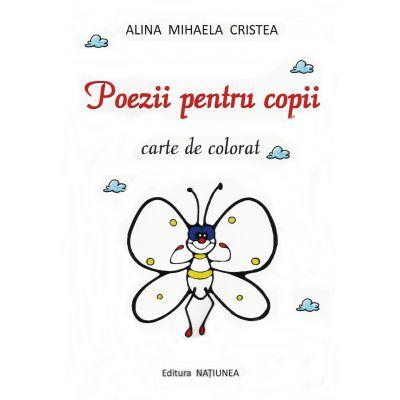 Poezii pentru copii - carte de colorat