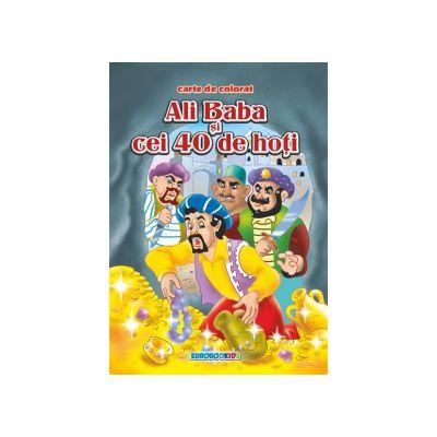 Ali Baba si cei 40 de hoti Carte de colorat B5