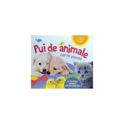 Pui de animale carte puzzle-FL JR