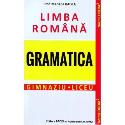 Limba romana gramatica Gimnaziu Liceu
