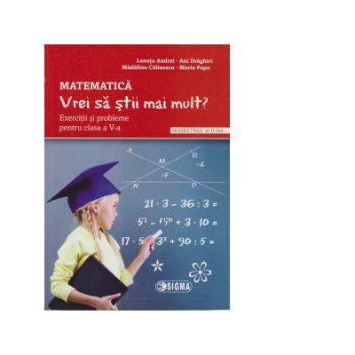 Matematica. Vrei sa stii mai mult? Exercitii si probleme pentru cls aV-a Sem.2