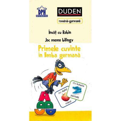 PRIMELE CUVINTE IN LIMBA GERMANA joc memo bilingv