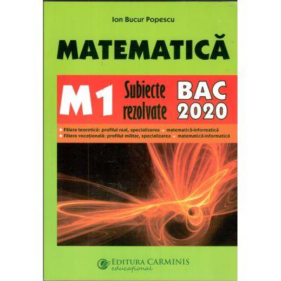 BAC 2020 Matematica M1  Subiecte rezolvate