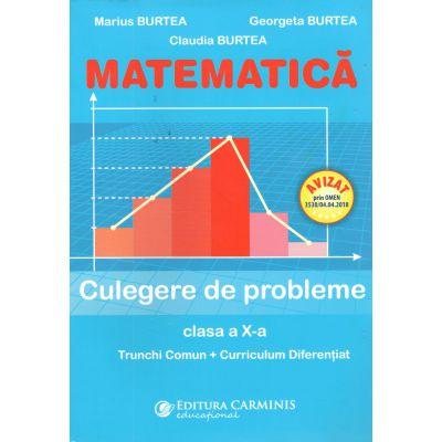 MAEMATICA Culegere de probleme clas aX-a Trunchi Comun+Curriculum Diferentiat