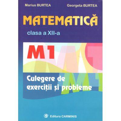 Matematica  clasa aXII-a M1 Culegere de exercitii si probleme