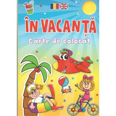 In Vacanta-Carte de colorat Romana-Engleza