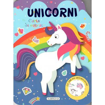 Unicorni - carte de colorat
